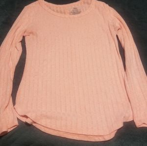 Peach long sleeve shirt